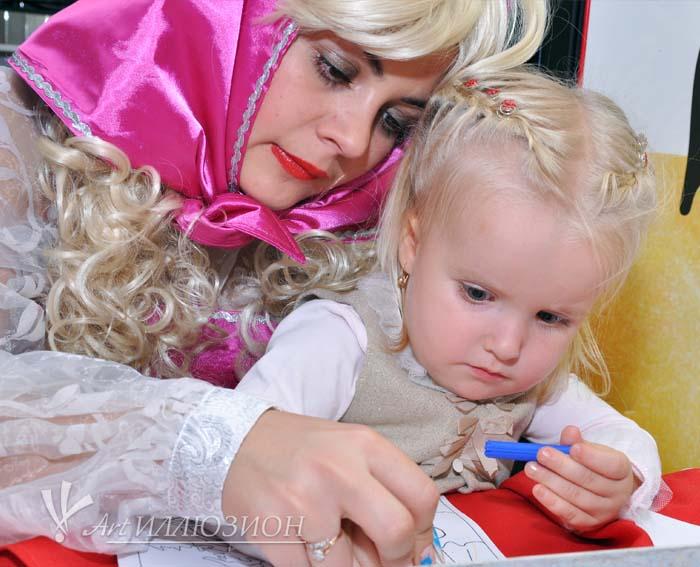 Детский День Рождения в стиле Маша и Медведь