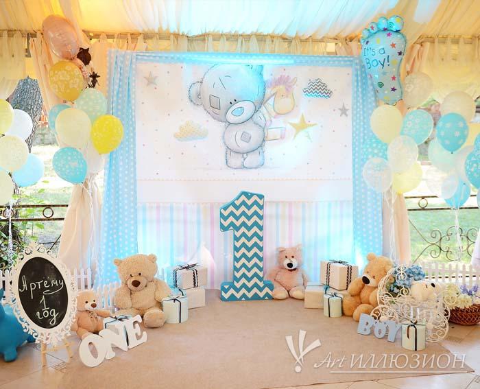 Детский День Рождения в стиле Мишка Тедди