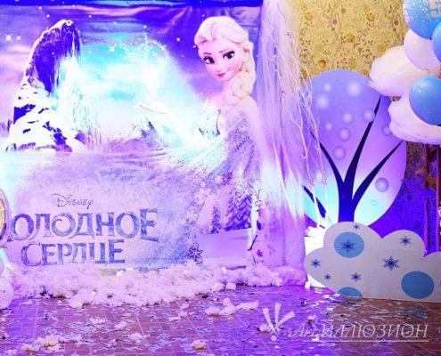 корпоративные детские новогодние праздники в стиле Frozen