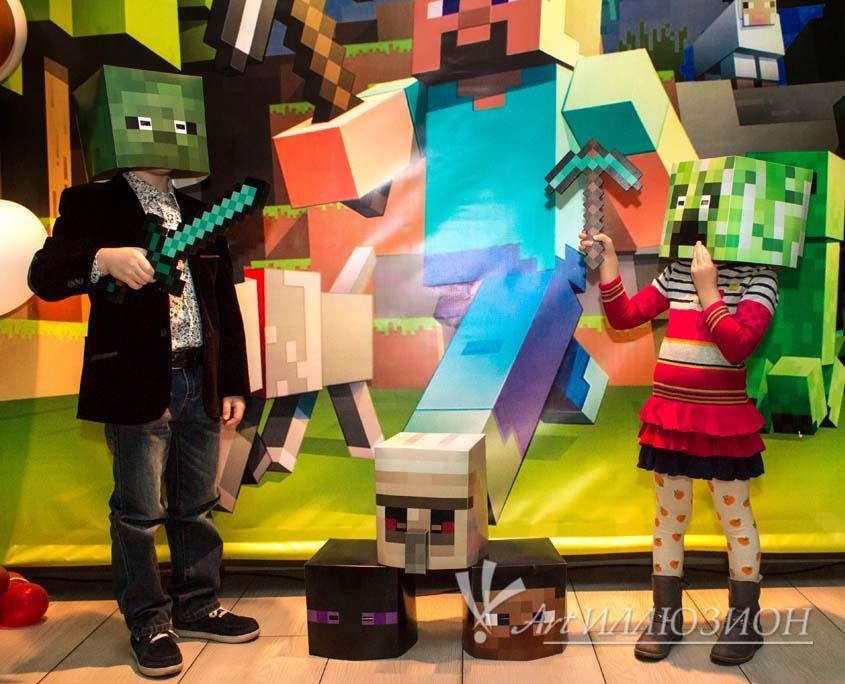 Организация и Проведение Детских Праздников в стиле Minecraft