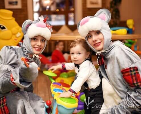 Аниматоры Киев на детский праздник в стиле Мишка Teddy