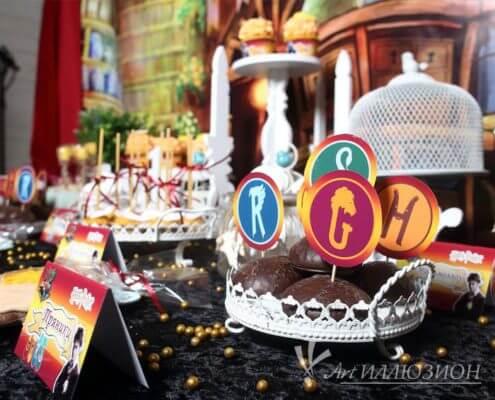 Кенди бар и торт на заказ на день рождения Киев в стиле Harry Potter