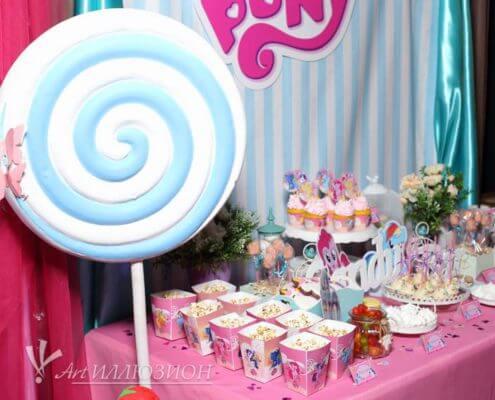 Кенди бар и торт на заказ на день рождения Киев в стиле My Little Pony