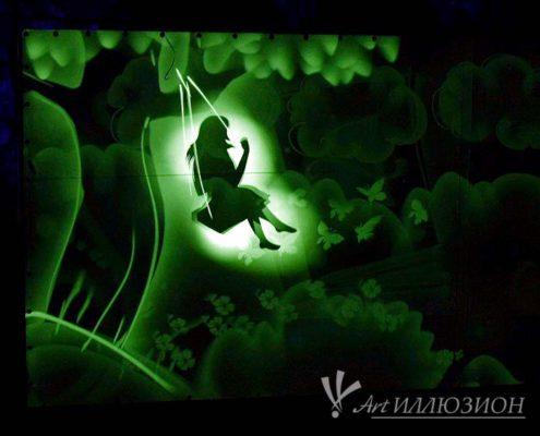 рисование светом для детей и взрослых на праздник