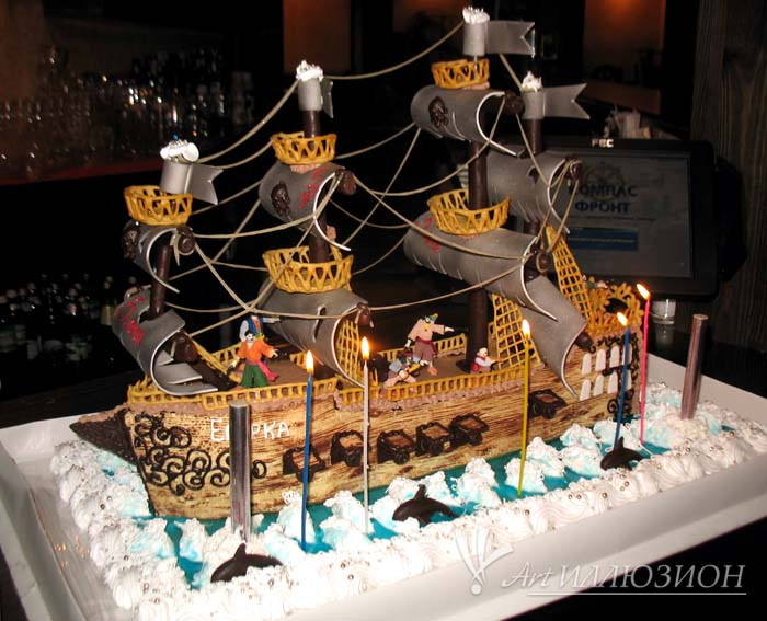 Кенди бар и торт на заказ на День рождения ребенка Киев в стиле Пиратов