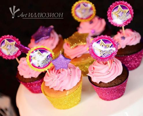 Кенди бар и торт на заказ на День рождения ребенка Киев в стиле Star