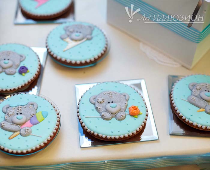 Кенди бар и торт на заказ на День рождения ребенка Киев в стиле Мишка Тедди