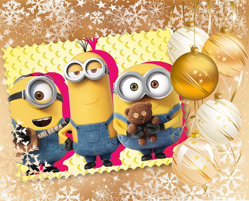 Организация и Проведение Детских Новогодних Праздников в стиле Миньоны