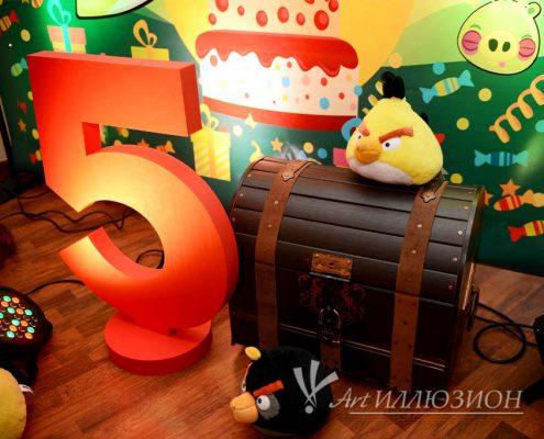 Организация и Проведение Детского Праздника в стиле Angry Birds