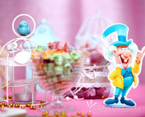 Кенди бар и торт на заказ на День рождения ребенка Киев в Стране Чудес