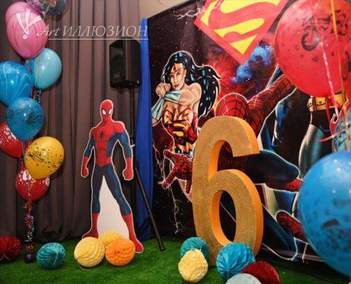 Фотозоны и Декор Super Heroes