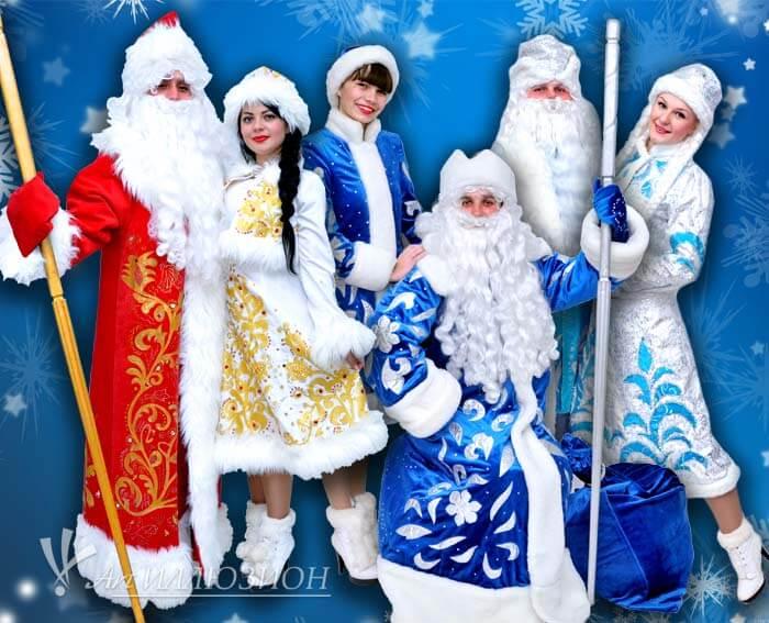 Новогодние Праздники для Детей. Дед Мороз и Снегурочка в Киеве.
