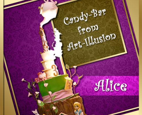 Кенди бар и торт в стиле Алиса