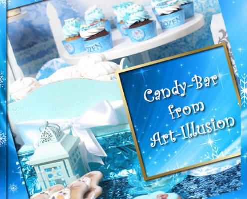 Candy Bar и торт в стиле Frozen