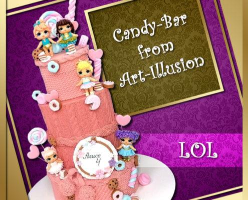 Candy Bar и торт в стиле LOL